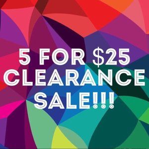 SALE! ⚠️items are 5 for $25 !!